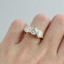 14k Yellow Gold 2.50 ct Round Diamond Engagement Ring Bezel Set Fine Ring !