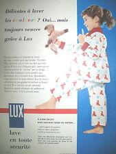 PUBLICITE DE PRESSE LUX SAVON MACHINE A LAVER  FRENCH AD 1955