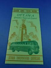 GUIDE BUS TOUR BOOK OTTAWA CANADA NATIONAL CAPITAL 1949 TRAVEL ADVERTISING