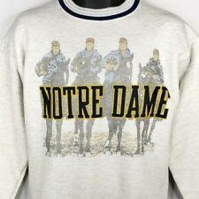 Notre Dame Four Horsemen Sweatshirt Vintage 90s Football Made In USA Medium NEW