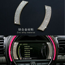 Car Stereo Dash Board Sticker Crystal Emblem Trim Fit For mini cooper F56 F55 54