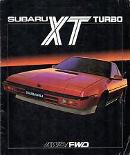 Subaru XT Turbo Coupe 1985-87 UK Market Sales Brochure 2WD 4WD