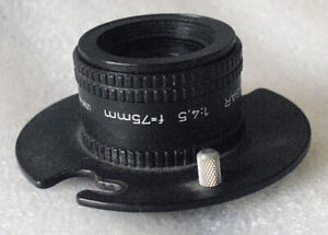 EL-OMEGAR RODENSTOCK 75mm f4.5 enlarging lens on lens board GERMANY
