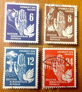 EBS East Germany DDR 1950 - Nuclear War - Michel 276-279 Used cv $44.00 (9