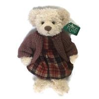 Vintage Russ Berrie Plush Teddy Bear Stuffed Animal Briva Bear Retired