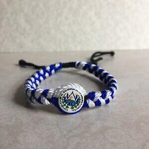 El Salvador Bracelet #04 Handmade with Plastic Handcrafted Nylon Cañamo Pulsera