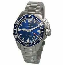 NEW Hamilton Khaki Navy Frogman Auto Blue Dial Men's Automatic Watch H77705145