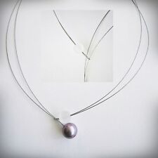Echtschmuck-Halsketten & -Anhänger im Collier-Stil aus Edelstahl für Damen