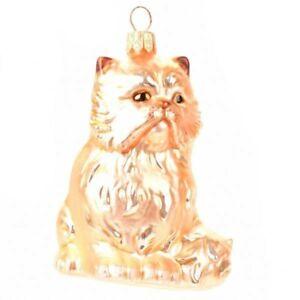 Novelty Glass Handmade Persian Cat Christmas Decoration Tree Ornament Bauble
