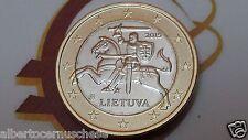 1 euro 2015 LITUANIA cavaliere VYTIS Lituanie Lithuania Litauen Lietuva Литва