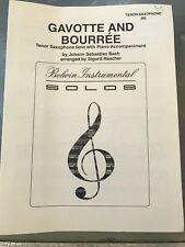 Gavotte and Bourree Tenor Saxophone Solo by Johann Sebastian Bach