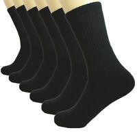 Wholesale Lot Plain Crew Homme Athletic Sport Chaussettes Haute En Coton Taille 9-11 10-13