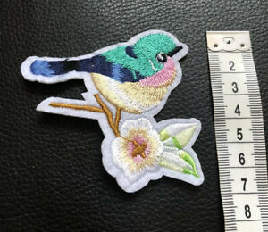 Bird Patch Sew On Iron On Motif Dresses Bags Appliques Patches
