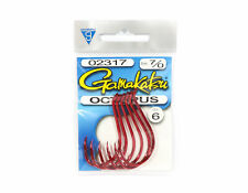 Gamakatsu Octopus Hook Red Size 7/0 ,6 Per pack (1262)