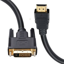 DVI To HDMI Cable Gold Lead Digital HD TV HDTV 3D LED LCD PC Laptop Monitor 1.5m