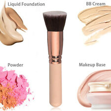 Rose Gold Flat Top Soft Foundation Brush For Liquid Cream Large Blush Brush Hot