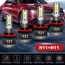 4pcs H11 H9 Mini Combo LED Hi-Lo Beam Headlight Fog Bulb for 07-18 Nissan Altima