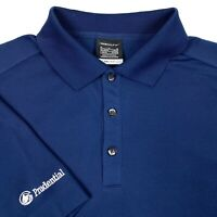 Nike Golf Prudential Blue Short Sleeve Dri Fit Athletic Rugby Polo Shirt Mens M