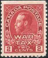Canada #MR2 mint VF/XF OG NH 1916 King George V Admiral 2c+1c carmine War Tax