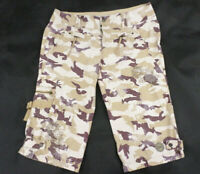 GUESS JEANS Women's Bermuda cargo shorts, Camouflage, Trousers, Size 32