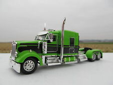 DCP 1/64 scale W-900 Kenworth Mid Roof LIME GREEN WITH BLACK SEMINOLE STRIPE