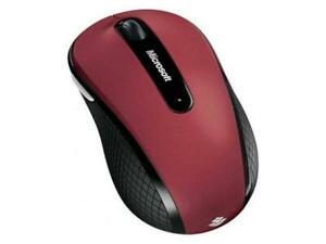 Microsoft D5D-00038 Wireless Mobile Mouse 4000; Ruby Pink Red Top with Black Sid