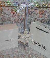 🎁 PANDORA SNOWFLAKE ORNAMENT Christmas Tree Decoration Ceramic 2015 NEW+box 🎄