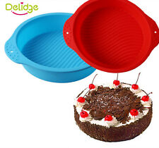 Round Silicone Cake Pan Large Silicone Pizza Mold Baking Tool For Cakes Bakeware