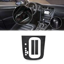 Black Carbon Fiber Gear Panel Sticker DSG Decal For VW Golf MK6 GTI R20 AT