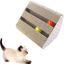 Katze Wellpappe Scratch Board Pad Mat Scratcher Bett Krallen Pflege Spielzeug GS