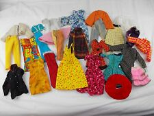 VINTAGE MIXED LOT BARBIE BARBIE CLONE & HANDMADE CLOTHING LOT 60