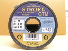 STROFT Vorfachmaterial GTM 25 Meterspule  0,16mm Durchmesser  Tragkraft 3,0kg