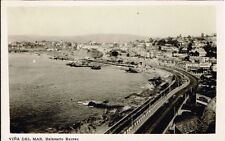 323 CHILE VINA DEL MAR RECREO BEACH GENERAL VIEW POSTCARD 1932