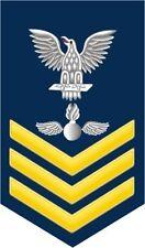 """Aviation Ordnanceman Ao 1st Class E-6 Gold 5.5"""" Rank Sticker / Decal"""
