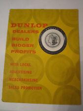 1960 DUNLOP TIRES DEALERS ADVERTISING - MERCHANDISE BOOKLET -  TUB RH-2