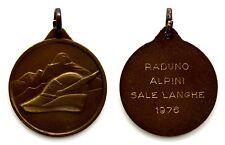 Medaglia Raduno Alpino Sale Langhe 1976 Bronzo, Diametro cm 3,2 Peso g 13,5