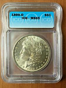 1899-O $1 USA Morgan Silver Dollar Coin  ICG MS 65 Gold Toning
