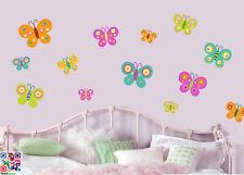 18 Mariposas coloridas Pack calcomanías de pared calcomanías Murales transferencia Mariposa