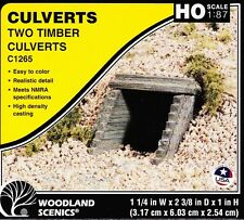 Model Train HO Timber Styled Culverts - 2 in a pack from Woodland Scenics #C1265