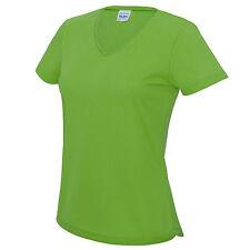 Ladies Womens Fitness Running Short Sleeve T Shirt Gym Sports V Neck Tee T-shirt