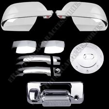 For 14~15 TOYOTA TUNDRA DOUBLE CHROME GAS DOOR HANDLE TAILGATE MIRROR COVERS L