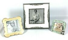 Lot Of 3 Photo Frames Burnes of Boston hold 5x5, Baby hold 3x3, Todler 3.75X3.75