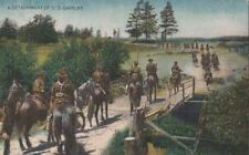Postcard Military WWI A Detachment of Cavalry