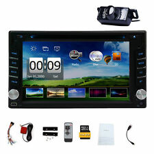 Double 2DIN In Dash GPS Navi Car DVD Player Bluetooth Auto Stereo Radio USB+CAM