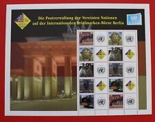 CLEARANCE: United Nations (S14) 2006 Borse Berlin Personalized sheet (lot 1)