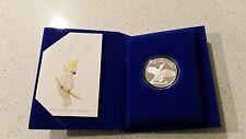 Birds of Australia Ten Dollar Silver Proof Coin  Cockatoo 1990 CERTIFICATE 44465