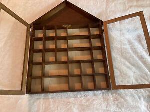 Wood Frame Glass Door Wall Hanging Display Curio Cabinet TRIPAR HOUSE MINIATURE
