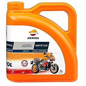 Aceite Repsol Moto sintético 4T 10W40 4 litros