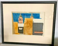ROBERT HERRMANN WATERCOLOR, Signed, Wood framed, Special Glass