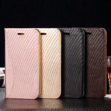 De Luxe Magnétique Flip Cover Stand Portefeuille Étui Cuir pour iPhone Samsung